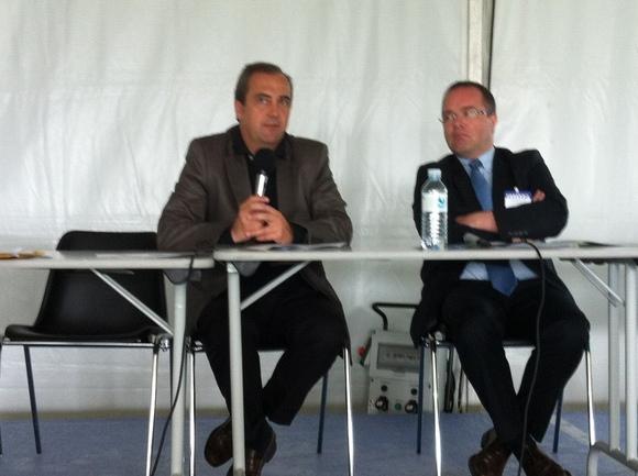 El delegado para la Cooperación TransfronterizaMiguel Angel Crespo en un momento del coloquio