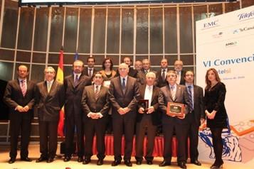 Foto de grupo de los ganadores de los Premios Autelsi 2009