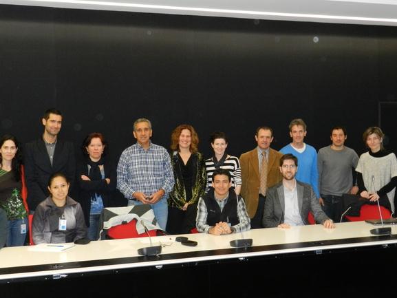 Las delegaciónes vasca y ecuatoriana en la sede del Gobierno Vasco