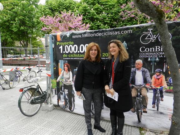 Amaia Barredo y Ana Oregi en el Palacio Europa