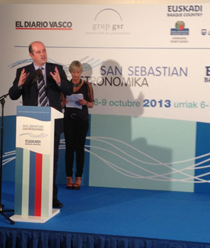 Bittor Oroz en la presentación de San Sebastian Gastronomika 2013