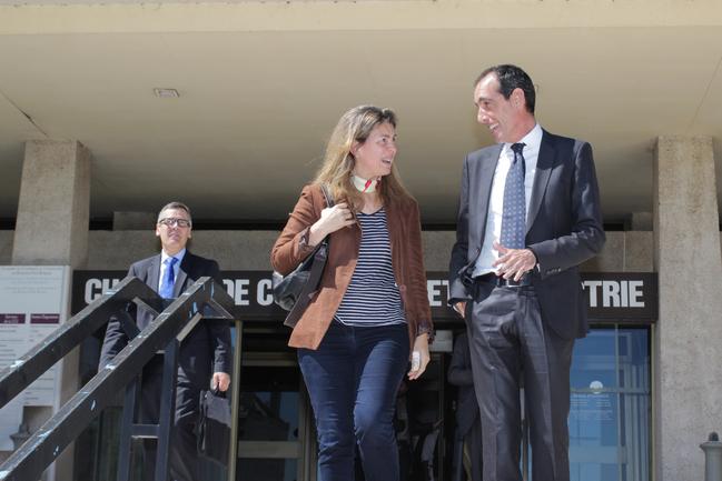 Oregi, en una reciente visita a la Cámara de Comercio y Puerto de Baiona