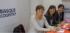 De izquierda a derecha Arantza Madariaga, directora de Basquetour,Itziar Epalza, viceconsejera de Comercio y Turismo y Mertxe Garmendia, directora de Turismo