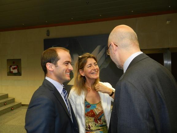 Ansola,   Oregi y Galera, en un acto organizado por URA
