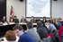 Oregi, en la reunión celebrada en Lakua. (Foto EFE)