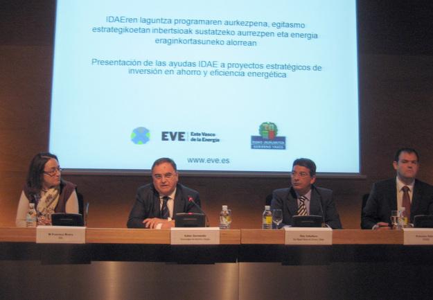 Inauguración de la presentación de las ayudas IDAE