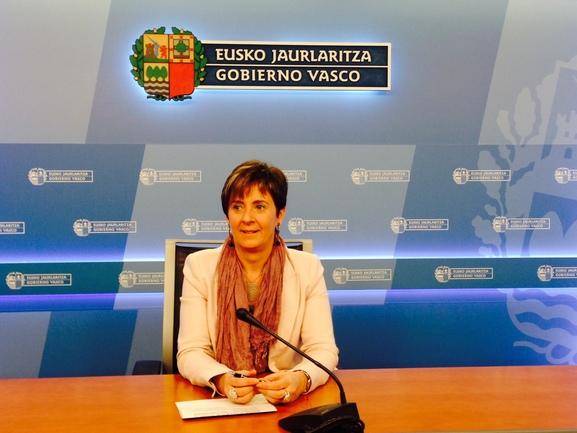 Arantza Tapia en la sede del Gobierno vasco en San Sebastián
