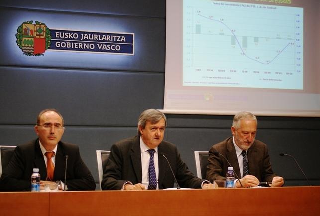 De izquierda a derecha, Andrés Araujo, Carlos Aguirre y Koldo Hualde
