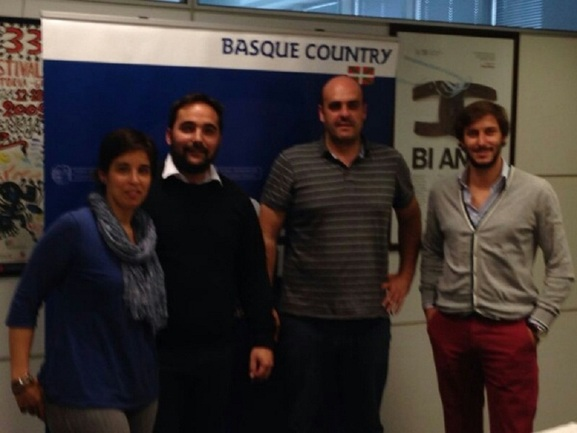 Maitane Leizaola (Bizkaia), Jon Redondo (Gobierno Vasco), Asier Sarriegi (Gipuzkoa) y Manu Rabanera (Araba)