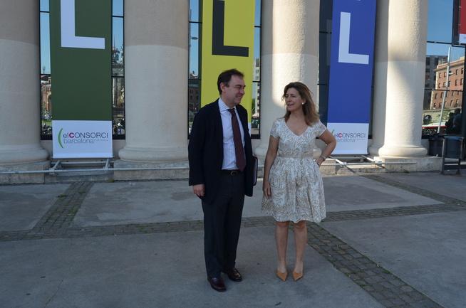 Oregi y Aiz en un reciente encuentro logístico de Barcelona
