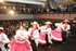 Bailes folclóricos de la región de Huila durante el acto