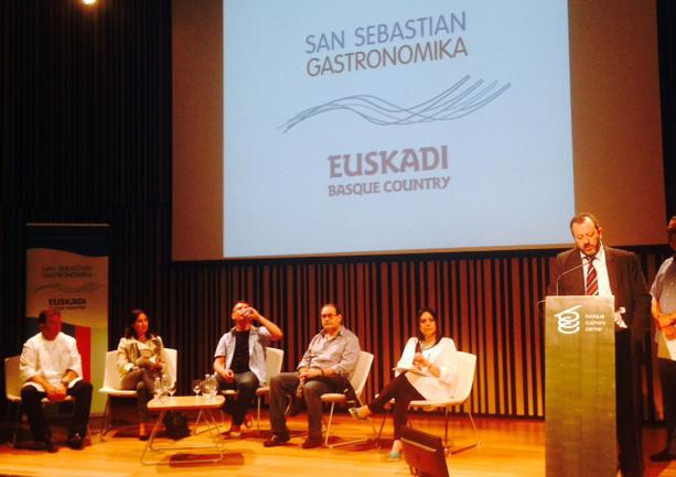 Peli Manterola en la presentación de San Sebastian Gastronomika - Euskadi Basque Country