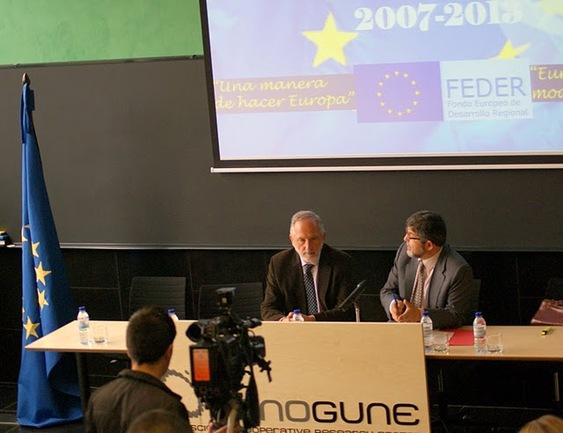 Koldo Hualde, director de Economía y Planificación del Gobierno vasco y Anatolio Alonso, Subdirector Fondos Feder