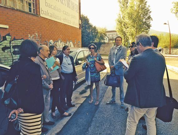 Delegación de Burdeos y representantes de Sprilur en su visita a Euskadi