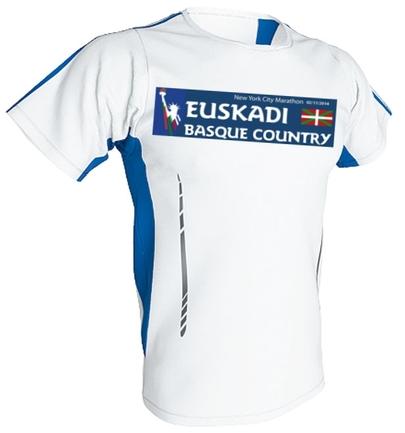 The shirt of Euskadi for the NYC Marathon