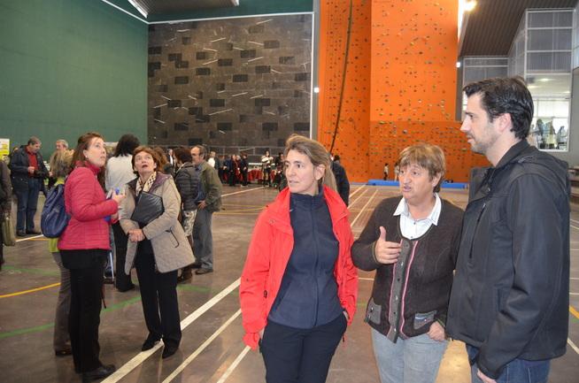 Oregi y la alcaldesa López de Munain