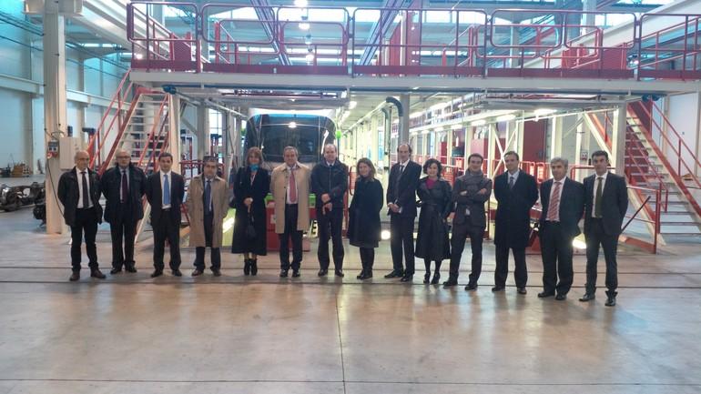 la delegación chilena con sus anfitriones vascos