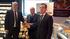 Bittor Oroz junto a José María Ustarroz y José Ramón Fernández de Barrena en la firma del acuerdo