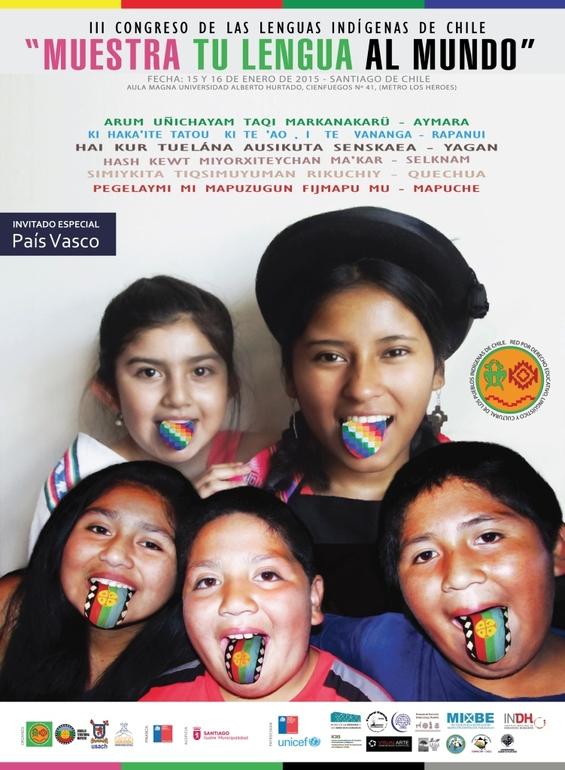 Cartel del Congreso que se celebra en Santiago de Chile del 15 al 16 de enero
