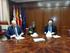 Los viceconsejeros de Industria y Agricultura, Pesca y Política Alimentaria del Gobierno Vasco y la concejala de Medio Ambiente de Vitori-Gasteiz en la firma del convenio