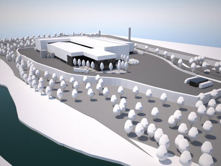 Recreación 3D de la nueva planta de Winoa Ibérica en Balmaseda