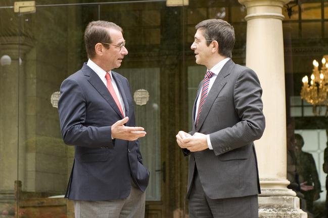 el lehendakari recibe al embajador de EEUU