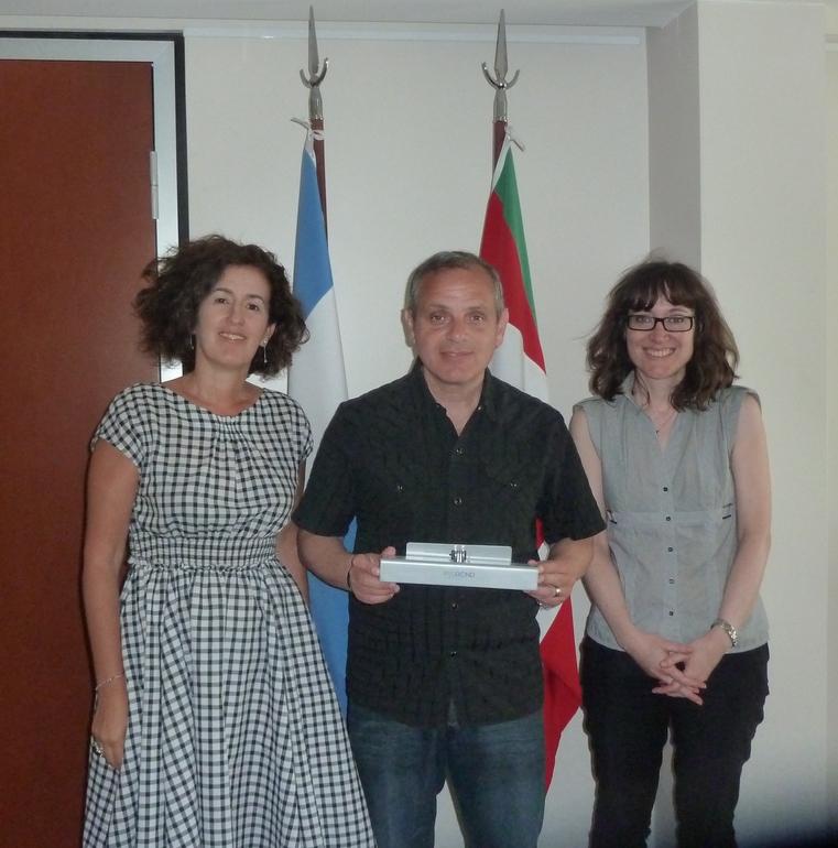 Darío Ryba, Director de ELA y la Delegada Sara Pagola en la Delegación del Gobierno Vasco