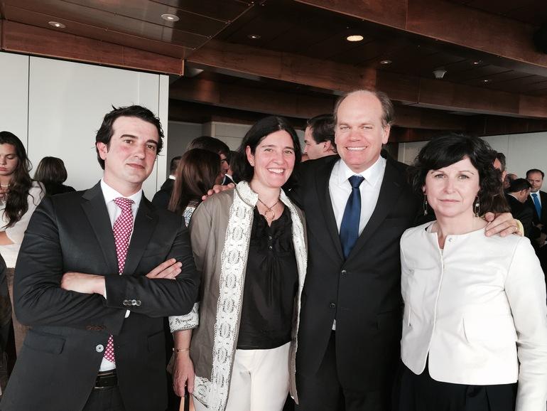 Los miembros del GV con el nuevo Presidente del Senado de Chile Patricio Walker