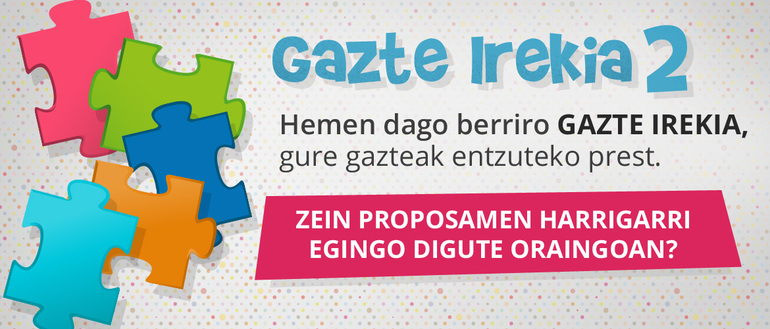 La segunda edición de Gazte Irekia ya cuenta con los tres equipos finalistas
