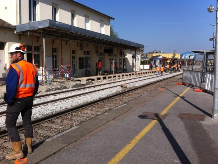Trabajos en lineas ferroviarias galas (SNCF)