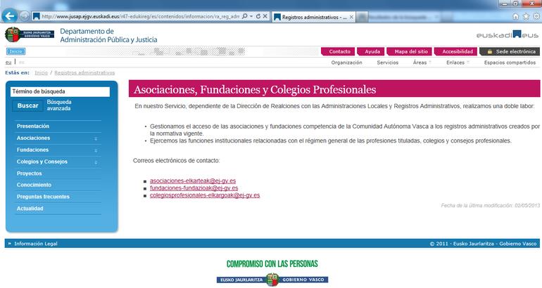 Las fundaciones y asociaciones de Euskadi ya pueden presentar sus libros de manera online para su legalización