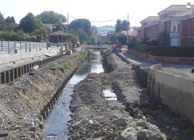 Estado actual del Tramo La Avanzada-Pasarela Calle Carmen en el Río Gobela, zona Chopos-Getxo