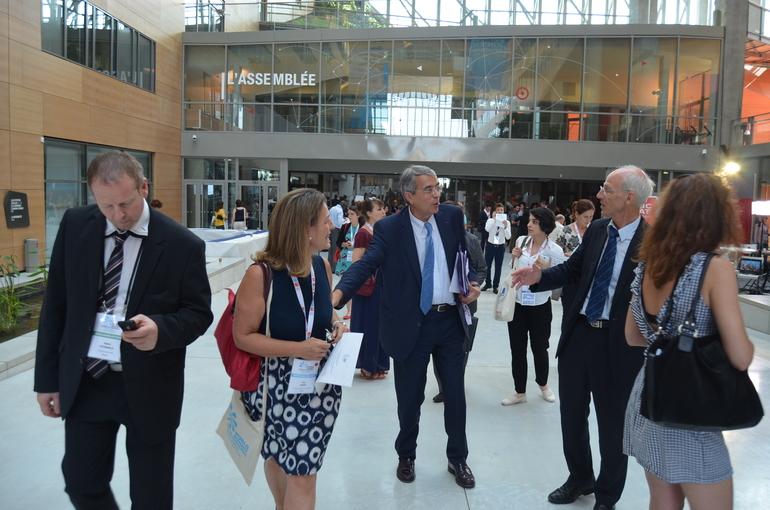 Oregi e Iriarte, con el Presidente de Rhône Alpes