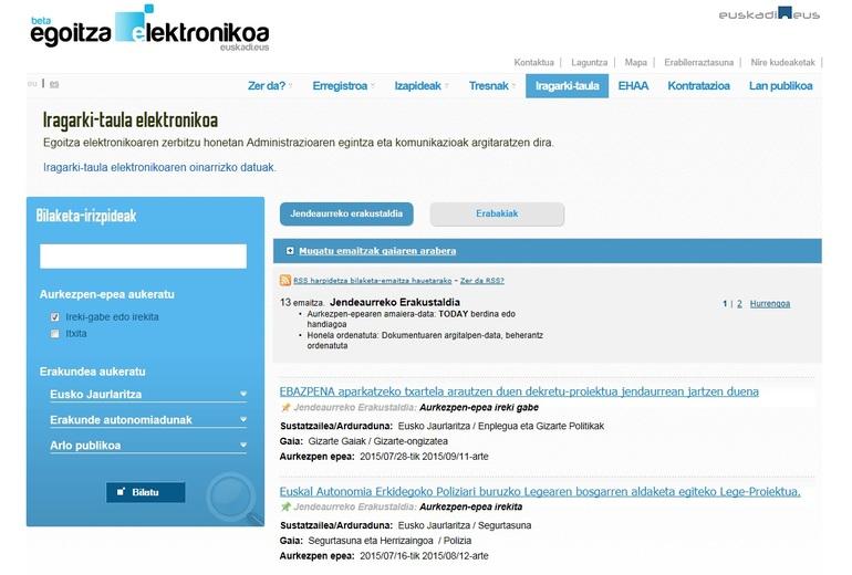 La ciudadanía ya puede participar online en la elaboración de las leyes, decretos y órdenes que realiza el Gobierno Vasco
