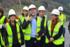 Oregi, en marzo 2015,  en las obras de Bergara, junto al presidente de la Comisión de Transportes del Parlamento Europeo