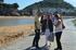 Ruiz de Angulo con el alcalde de Lekeitio y la Sailburu Oregi en el renovado espigón de Lazunarri