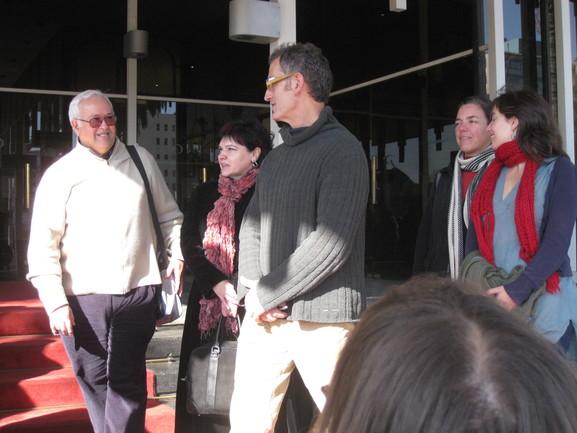 Urchueguía y Zinkunegi, en la inauguración del Barnetegi