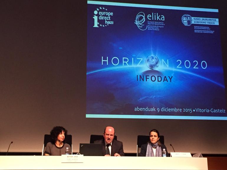 Bittor Orozek Inforday Horizon 2020 inauguratu du