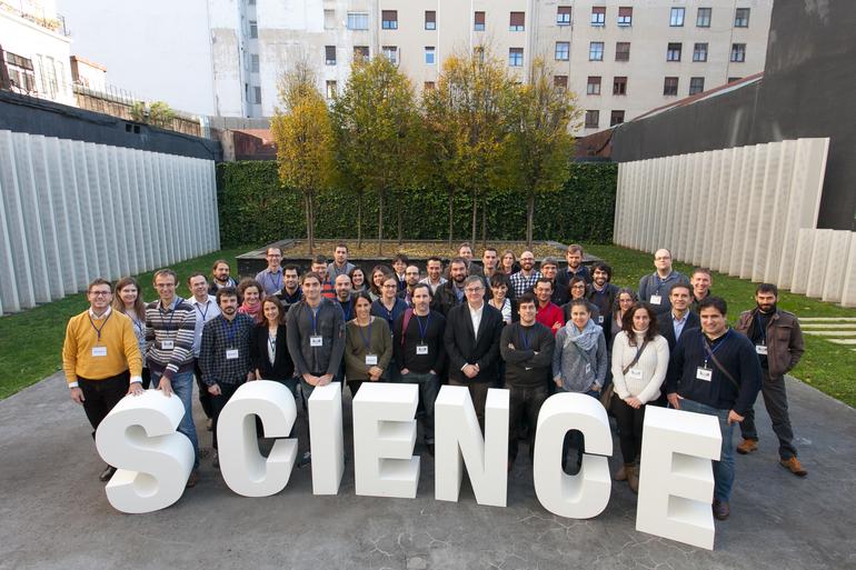 Algunos de los investigadores e investigadoras contratados por el programa Research Fellows, el pasado diciembre en Bilbao