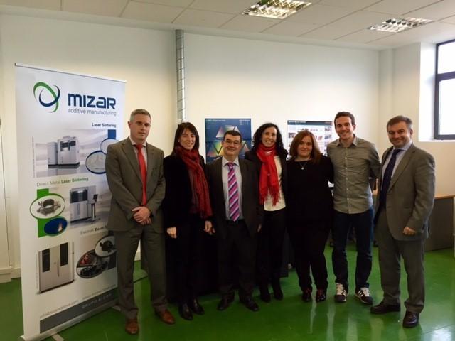 Una delegación del Departamento de Desarrollo Económico y Competitividad, encabezada por la viceconsejera de Tecnología, Innovación y Competitividad, ha visitado la empresa Mizar