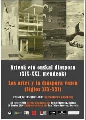Las artes y la diáspora vasca (siglos XIX-XXI), coloquio internacional
