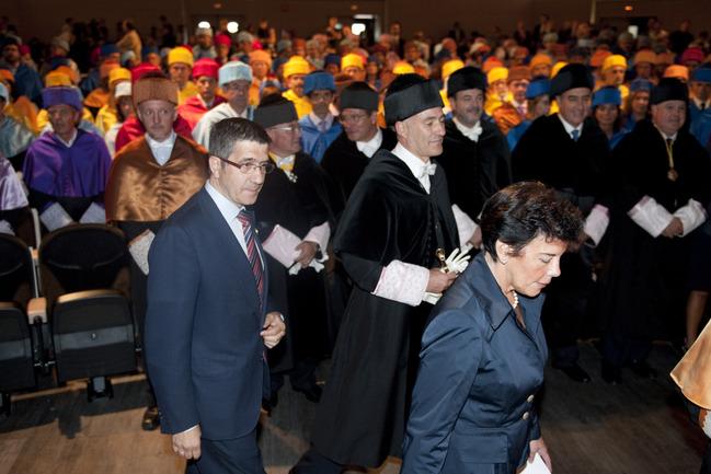 El Lehendakari, Patxi López, en el acto inaugural del curso académico 2010-2011 de la UPV-EHU