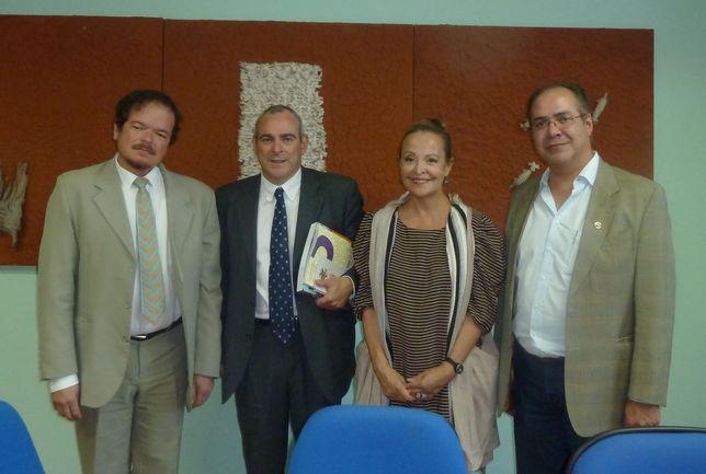 El Viceconsejero y la Delegada junto a los representantes del Ministerio de Cultura Brasileño