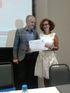 Sara Pagola recoge el premio a la Buena Práctica Educativa, de manos de Johannes Krassnitzer, Director del Programa ART-PNUD de las Naciones Unidas