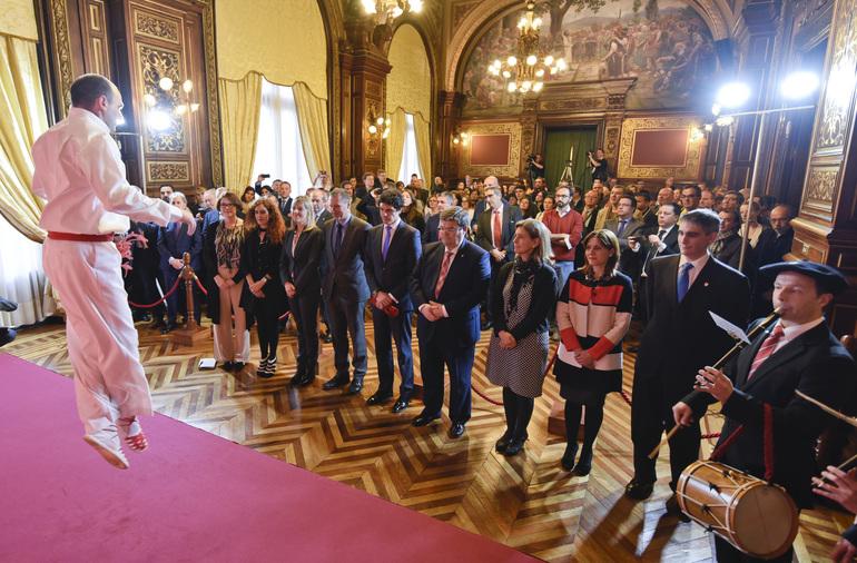 Ana Oregi participa en la recepción foral de Bizkaia a representantes municipales de la VIII Conferencia Europea de Ciudades Sostenibles-Iclei (Photo BFA/DFB)