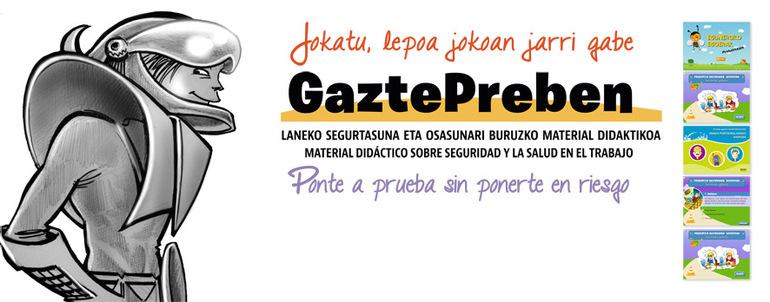 GaztePreben es la microsite de OSALAN dirigida al público más joven