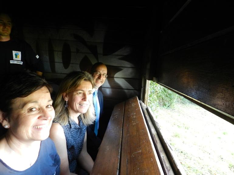 Ana Oregi, en el observatoriuo de aves de Txingudi
