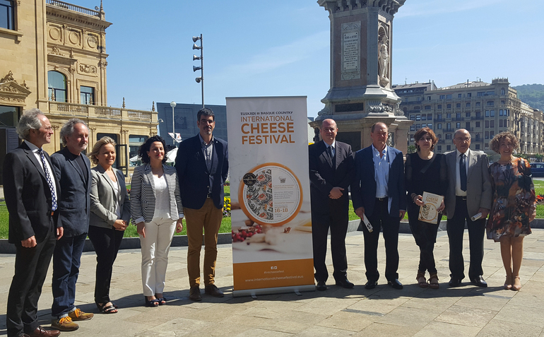 Presentación en Donostia del Euskadi-Basque Country International Cheese Festival