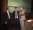 Dionisio Txaparro (derch.), Marco Pineda (centro) y Joxean Muñoz, poco antes de dar inicio a la presentación