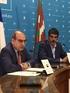 El Alcalde de Donostia, Eneko Goia, y el Consejero de Salud, Jon Darpón, en un momento de la rueda de prensa ofrecida hoy.